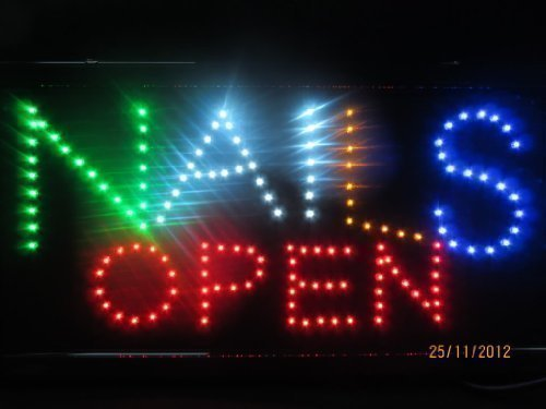 Bright Quality Colourful Nails Open LED neon shop display beauty salon hanging sign 48cmx25cm posted from London by Fat-catz fat-catz-copy-catz