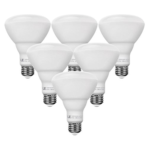 15w Warm White Cfl (LE 6 Pack Dimmable BR30 E26 LED Bulbs, 75W Incandescent Equivalent, 15W, LED Recessed Can Lights, 1100lm, Warm White, 2700K, 110° Flood Beam, E26 Base, LED Light Bulbs, LED Flood Light Bulb)