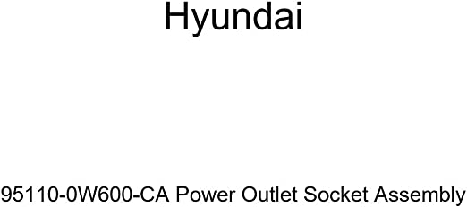 Genuine Hyundai 95110-0W600-CA Power Outlet Socket Assembly