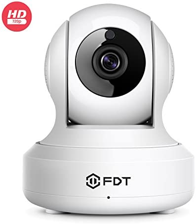 FDT 720P HD WiFi Pan Tilt IP Camera 1.0 Megapixel Indoor Wireless Security Camera FD7901 White , Plug Play, Two-Way Audio Nightvision