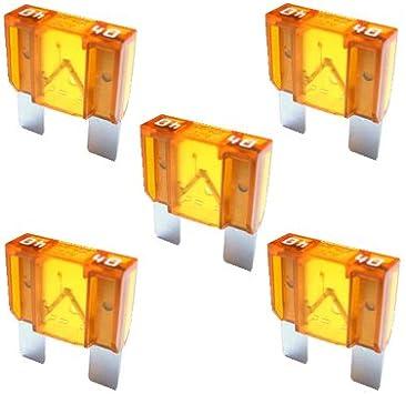 5 X Flachstecksicherung Maxi Sicherung 40a 32v Orange Auto