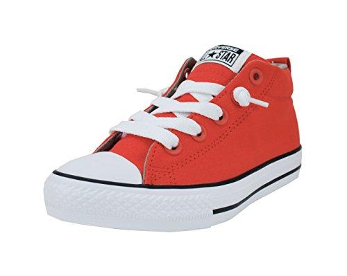 Converse Kids Boys' Chuck Taylor All Star Street (Big), Signal Red/Cadet Grey/White, 12.5 Little Kid M