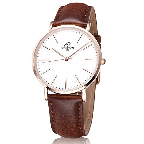 Amazon.com: BESSERON? Casual Mens Wrist Watches Stailess Steel ...