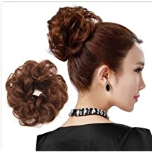 PRETTYSHOP 100% Human Hair Up Scrunchie Scrunchy Extensions Hairpiece Do Bun Ponytail Diverse Colors (brown #30)