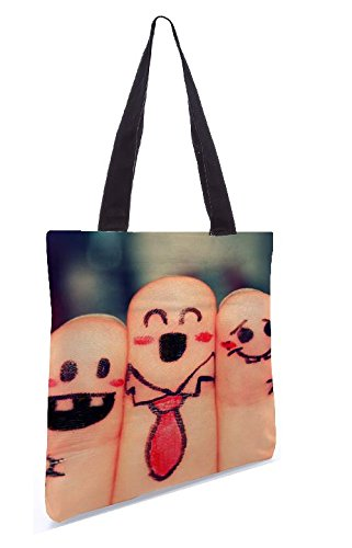 Snoogg schönen Finger Malerei 13.5 x 15 Zoll-Shopping-Dienstprogramm-Einkaufstasche aus Polyester-Segeltuch gemacht