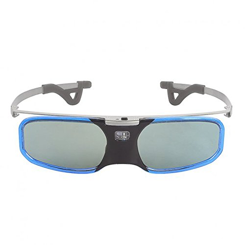 SainSonic Bravia 10M 144Hz Rechargeable Infrared 3D Active Shutter Glasses for Acer ViewSonic BenQ Vivitek Optoma 3D DLP-Link Ready Projector, Blue