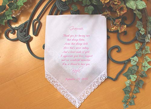 Grandmother Handkerchief-Wedding Hankerchief-PRINT-CUSTOMIZED-Wedding Handkerchief-Grandmother Gift-Grandma hankies-Bride Gift to Gr-LS6FCAC by Snugahug[94]