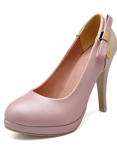 GGX/Damen Schuhe PU Sommer-/, Round Toe Heels Büro & Karriere/Casual Stiletto-Absatz Schleife Blau/Pink/Beige blue-us9 / eu40 / uk7 / cn41