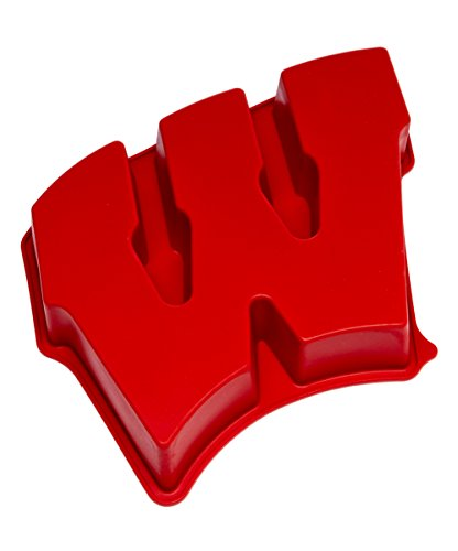 NCAA-Wisconsin-Badgers-W-Cake-Pan-with-Stand-One-Size-Red