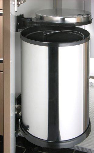 Gut Edelstahl Abfalleimer zum Küchenunterschrank-Einbau 12 Liter  MM93