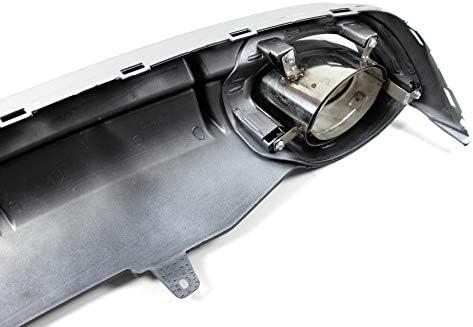 Diffusore posteriore nero con mascherine per A6 C7 berlina Avant 2011-2014 1023207 no RS6