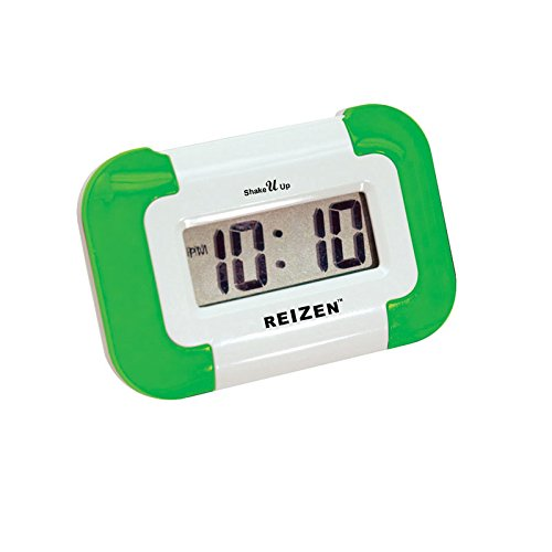 (Reizen Shake U Up- Compact Vibrating Alarm Clock)