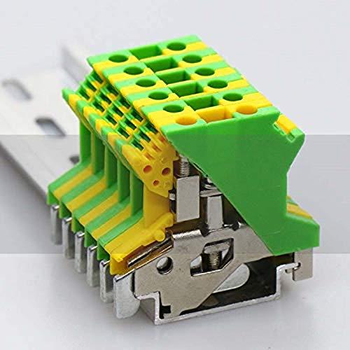 Clamp /à Vis 600V 20A Noblik Uslkg2.5N Bornier de Connexion de Circuit /à la Terre Mont/é sur Rail Din Paquet de 50 24-12 Awg