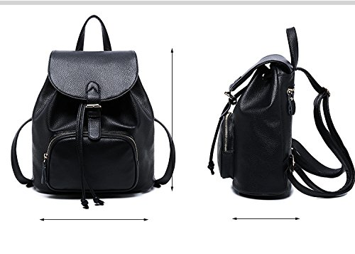 Backpack Ladies Purse Bag Girls Daily Travel Casual Small Women Leather AfqTz1B