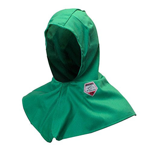 Black Stallion F9-HOOD 9 oz. FR Cotton Hood with Neck Shoulder Drape (Weld Helmet Bib)