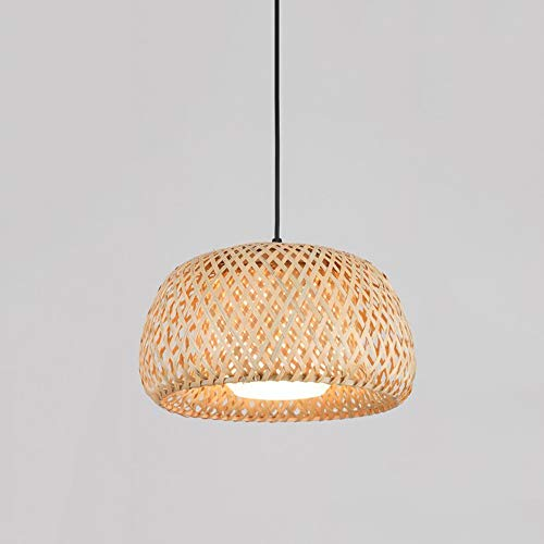 EASTYY Chinese Chandelier Hand Made Bamboo Art Rural Ceiling Lamp Restaurant Bedroom Pendant Light Balcony Japanese-Style Lantern Tatami Hanging Flashlight (Color : Lampshade)