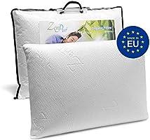 ZenPur Oreiller Memoire Forme Cervicales Douloureuses Fabriqué en Europe - Certification Oeko TEX - Oreiller Anti...
