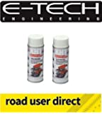 2 X Cans Of E-Tech 400ml XHT VHT Very High Temperature Paint - WHITE