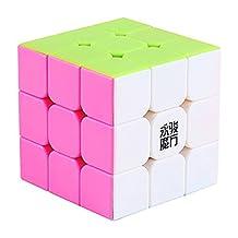 Kingcube Yongjun ( YJ ) Yulong 3x3 stickerless pink magic cube moyu yulong candy 3x3x3 speed cube puzzle