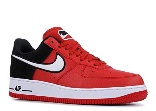 Nike Men's Air Force 1 LV8 Mystic Red/White/Black Leather Casual Shoes 12 M US (Nike Air Force)
