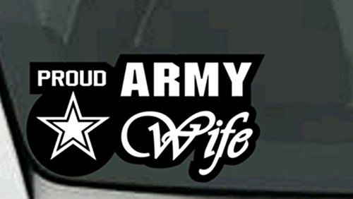 1-Pc Superb Popular U.S. Proud Army Wife Sticker Sign Military Doors Wall Size 6