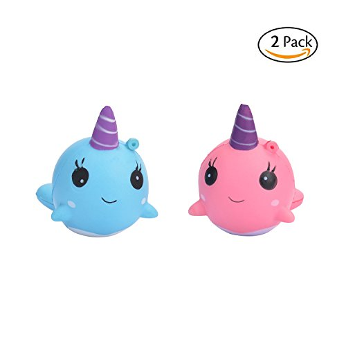 TSLIKANDO Soft Unicorn Jumbo Squishies Slow Rising Squeeze Toys, Squishy Charms Cream Scented Toys, Stress Relief toys, Decorative props (Pack of 2)