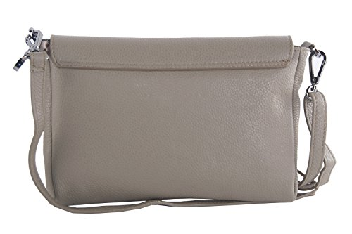 Borsa donna a tracolla PIERRE CARDIN beige in pelle Made in Italy VN494