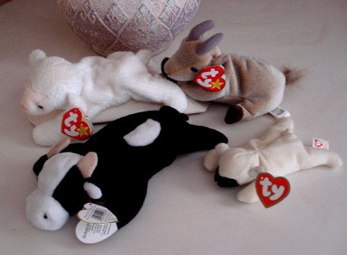 Ty Beanie Babies Fleece, Daisy, Goatie and - Ty Beanie Fleece Babies