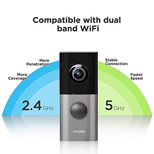 Zmodo Greet Pro Smart Video Doorbell, 1080p Security Camera w/ 180