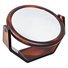 DivoTabletop360DegreeTwo-SidedSwivelVanityMakeupMirrorRound5XMagnification by DIVO