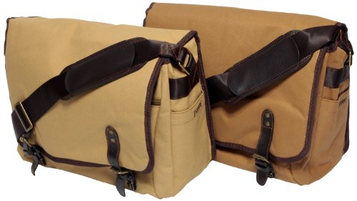 Portare' Multi Use Messenger Bag for Camera/Laptop/iPad - Khaki by Portare'