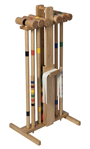 Lion Sports Premier 6 Player 33-Inch Croquet Set with (6 Player Croquet Set)