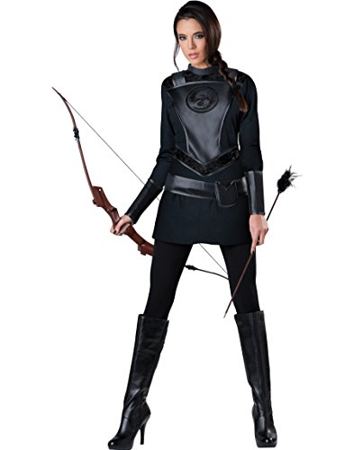 Adult Huntress Costumes (InCharacter Costumes Women's Warrior Huntress Costume, Black, Medium)