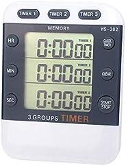 FAVOMOTO Cronômetro de Esportes Cronômetro Digital de 3 Canais Com Contagem Regressiva Cronômetro de Cozinha D