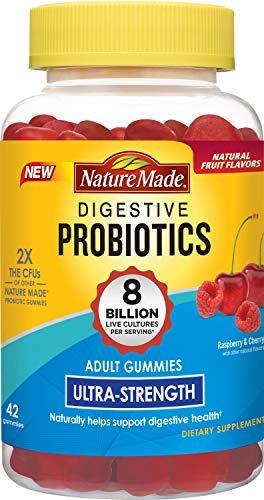 Nature Made Digestive Probiotics Ultra Strength Gummy: 8 Billion CFU, 42 Ct