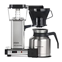 Moccamaster 79212 8-Cup Coffee Brewer with Thermal Carafe, Polished Silver