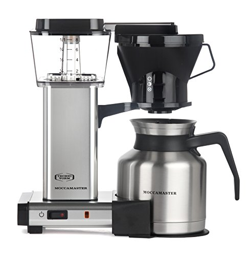Moccamaster 79212 KBTS 8-Cup Coffee Brewer with Thermal Carafe, Polished Silver by Technivorm Moccamaster