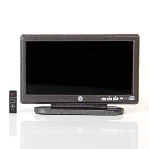 Puppenhaus Miniatur Breitbild Fernseher Flat Panel LCD TV w / remote grau