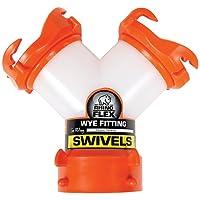 Camco RhinoFLEX RV Wye con extremos giratorios de 360 grados, permite la conexión de la manguera de la alcantarilla y las conexiones de la boquilla, protección contra olores (39812)