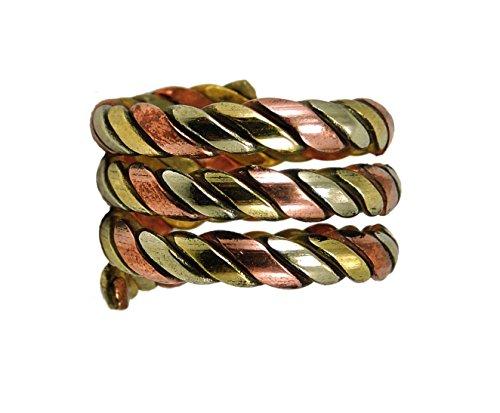 Tibetan Om Mani Padme Hum Healing Ring (Healing Spiral Ring)