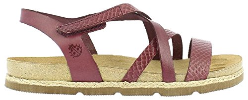 Yokono Women's Chipre Vaquetilla Sandals, Red Burgundy (Burgundy 005)