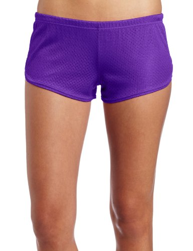 Womens Low Rise Compression Short (Soffe Women's Teeny Tiny Short, Neon Purple, Small)