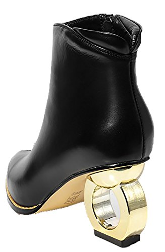 Vaneel Aliens Black Boots 7 vbn11 4 5CM UK Zipper Women TxrvqnT