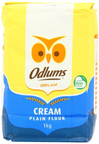 Odlums Irish Plain Cream Flour 1 Kg (Pack of 5) ()