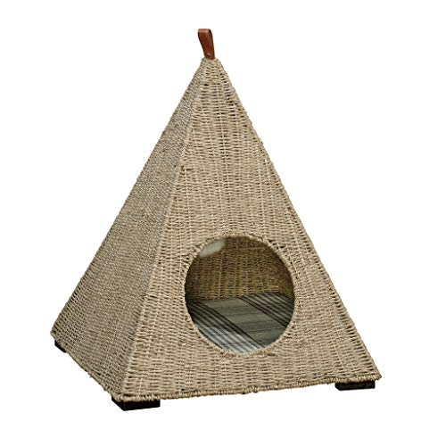 Sauder 421098 Pyramid Cat Nester, Wicker Pyramid