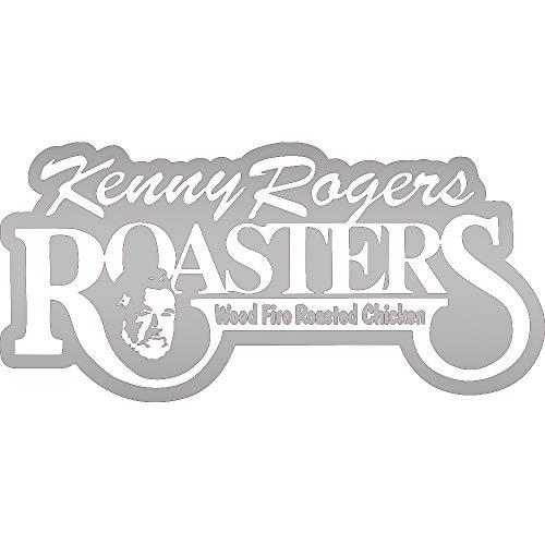 NBFU DECALS Kenny Rogers ROASTERS (Metallic Silver) (Set of 2) Premium Waterproof Vinyl Decal Stickers for Laptop Phone Accessory Helmet CAR Window Bumper Mug Tuber Cup Door Wall Decoration (Roaster Decals)