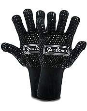 ACTIVA Schleicher rękawice do grilla, odporne na wysokie temperatury do 800 °C, wyjątkowo odporne na wysokie temperatury, antypoślizgowe rękawice do piekarnika, rękawice do gotowania, izolowane silikonem