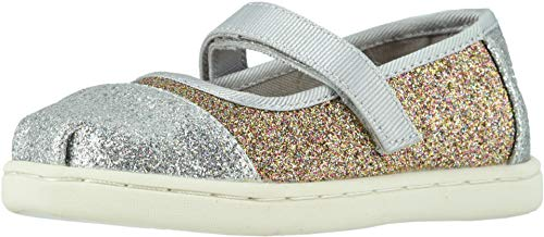 - TOMS Kids Baby Girl's Mary Jane (Infant/Toddler/Little Kid) Silver/Gold Iridescent Gimmer 5 M US Toddler