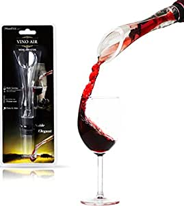 iMounTEK Premium Vino Pocket Sized Air Wine Aerator Pourer Stopper. Multi Function & Easy to Clean (Clear)