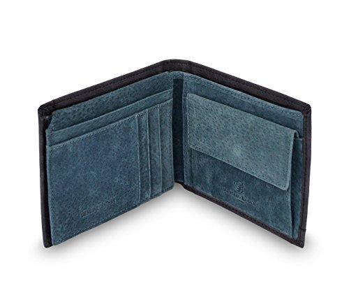 Con De Antonio Hombre Monedas Porta Basile 8806 Azul Piel Psb25 Para Cartera 8OwnxqIaZ